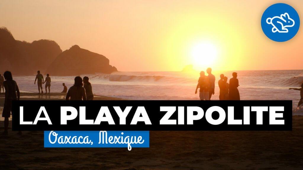 Playa Zipolite, Oaxaca, mixed beach